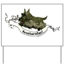 Spectacular Scottish Terrier Yard Sign