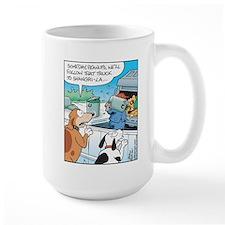 Dogs love Garbage Trucks Mug