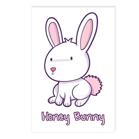 Honey Bunny Postcards (Package of 8)