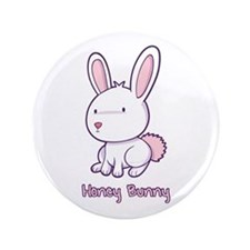 "Honey Bunny 3.5"" Button"