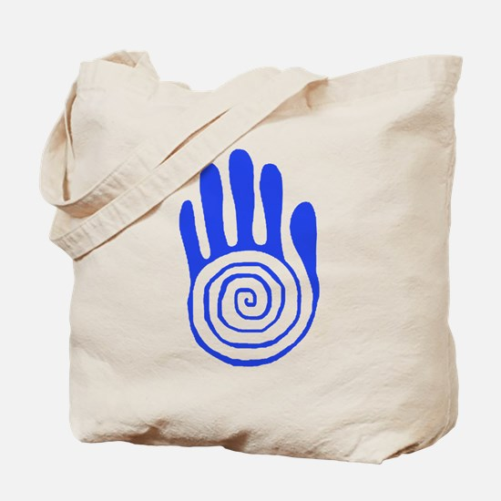 Sacred Hand in Blue - Tote Bag