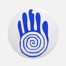 Sacred Hand in Blue - Ornament (Round)