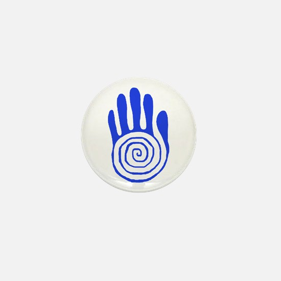 Sacred Hand in Blue - Mini Button