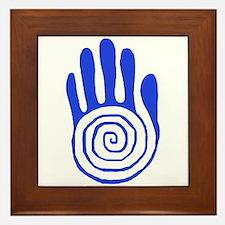 Sacred Hand in Blue - Framed Tile