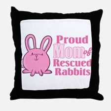 Rescued Rabbits Mom Throw Pillow