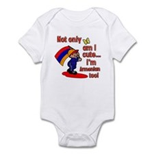 Not only am I cute I'm Armenian too! Infant Bodysu