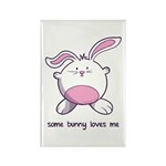 Some Bunny Loves Me Rectangle Magnet (100 pack)