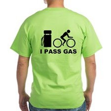 I PASS GAS Bicyclist T-Shirt