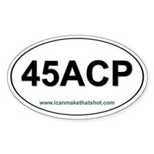 45 ACP Oval Decal