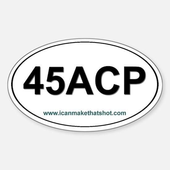 45 ACP Oval Decal