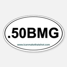 50 BMG Oval Decal