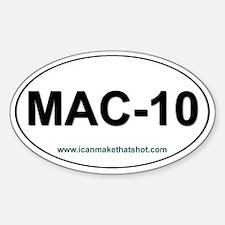 Mac-10 Oval Decal