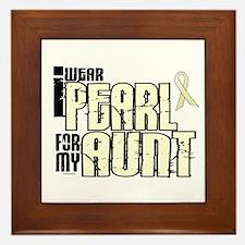 I Wear Pearl For My Aunt 6 Framed Tile
