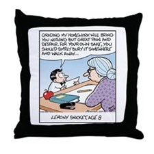 Young Lemony Snicket Homework Throw Pillow