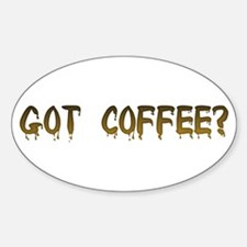 Caffeinated! Oval Decal