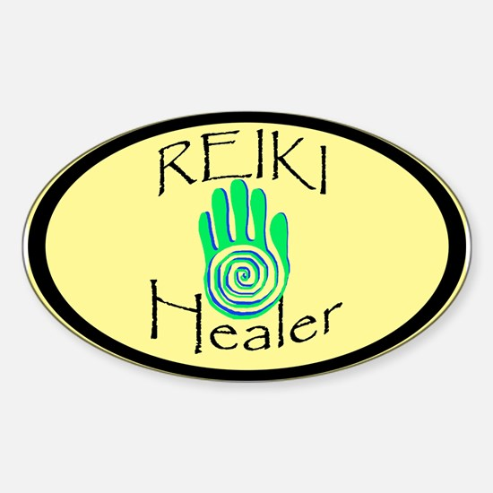 Reiki Healer Oval Decal