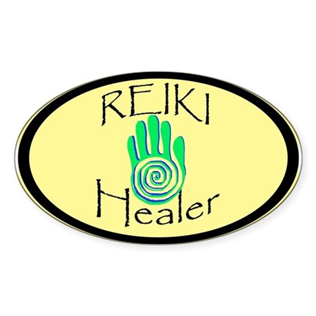 Reiki Healer Oval Sticker