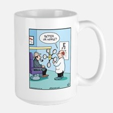 Sherlock Eye Exam Large Mug