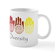 Celebrate Diversity Rainbow Hands Mug