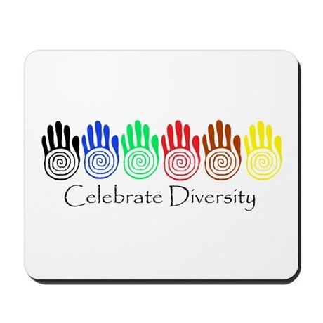 Celebrate Diversity Rainbow Hands Mousepad
