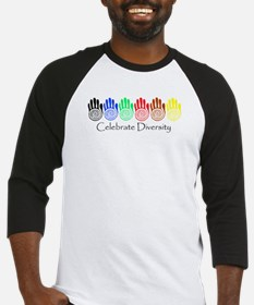 Celebrate Diversity Rainbow Hands Baseball Jersey