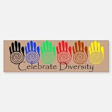 Celebrate Diversity Rainbow Hands Bumper Bumper Bumper Sticker