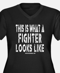 This is what a FIGHTER looks Women's Plus Size V-N