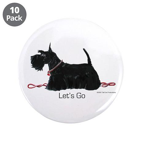 """Scottie Let's Go! 3.5"""" Button (10 pack)"""