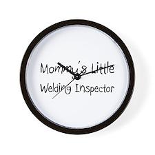 Mommy's Little Welding Inspector Wall Clock