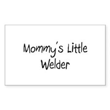 Mommy's Little Welder Rectangle Decal
