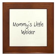 Mommy's Little Welder Framed Tile