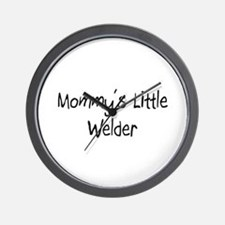 Mommy's Little Welder Wall Clock