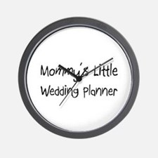 Mommy's Little Wedding Planner Wall Clock