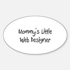 Mommy's Little Web Designer Oval Decal