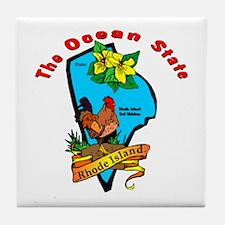 """Rhode Island Pride"" Tile Coaster"