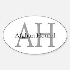 AH Afghan Hound Oval Decal
