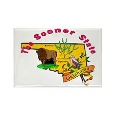 """Oklahoma Pride"" Rectangle Magnet"