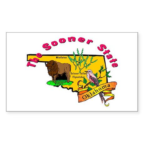 """Oklahoma Pride"" Rectangle Sticker"