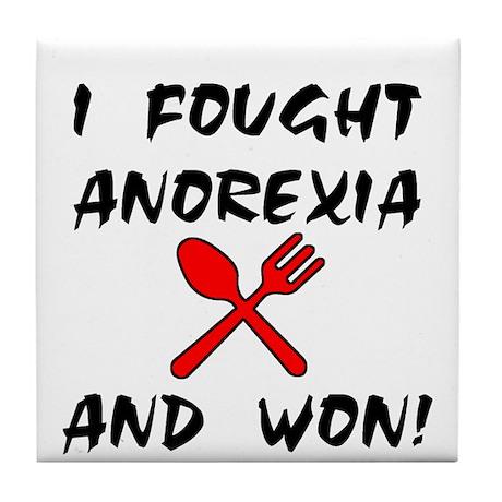 I Fought Anorexia Tile Coaster