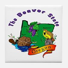 """Oregon Pride"" Tile Coaster"