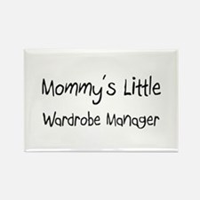 Mommy's Little Wardrobe Manager Rectangle Magnet