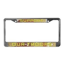 Desert Camo Support Our Troops License Plate Frame