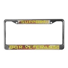 Desert Camo Support Our Vets License Plate Frame