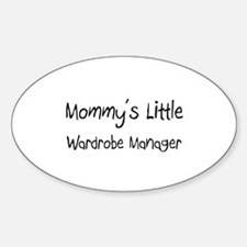 Mommy's Little Wardrobe Manager Oval Decal
