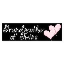 Grandmother of Twins Bumper Car Sticker
