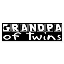 Grandpa of Twins Bumper Bumper Sticker