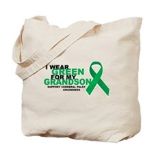 CP: Green For Grandson Tote Bag