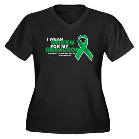 CP: Green For Grandson Women's Plus Size V-Neck Da