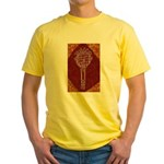 Tennis Racket Yellow T-Shirt (Brown)