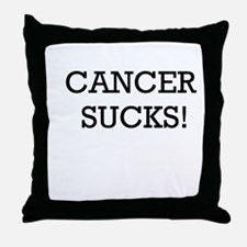Cancer Sucks Throw Pillow
